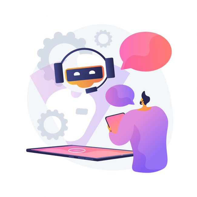Conversation with a chatbot